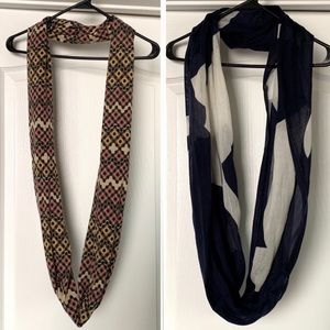 Accessories - Two Infinity Scarfs (Lot of 2)